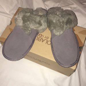 UGG Shoes - Ugg size 8 grey slippers NWT